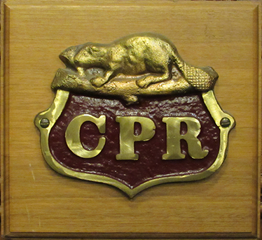 CPR plaque on display in the old roundhouse at CCWG Carleton Place Ontario
